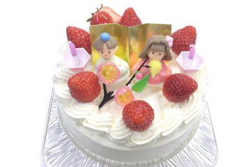 ひな飾りデコレーションケーキ